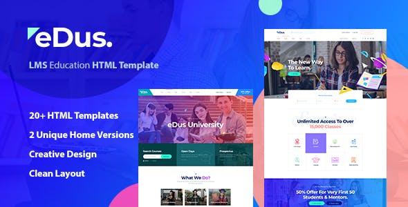 Edus - Online Courses HTML Template