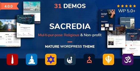 Sacredia   Church Multipurpose and Non-profit WordPress Theme - Churches Nonprofit