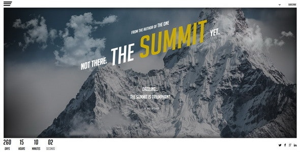 The Summit || Responsive Coming Soon Page - Under Construction Specialty Pages