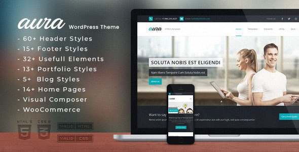 Aura - One Page & Multi Page WordPress Theme - Miscellaneous WordPress