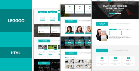 Leggoo | One Page Responsive Corporate HTML Template - Corporate Site Templates