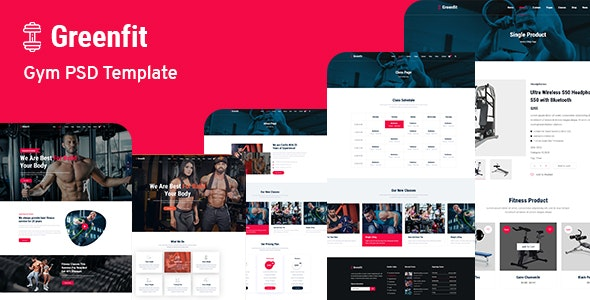 Greenfit - Fitness and Gym Template - Health & Beauty Retail