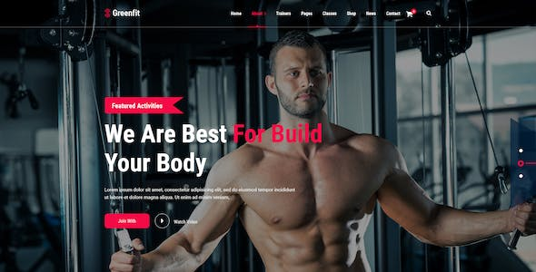 Greenfit - Fitness and Gym Template