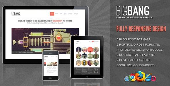 Bigbang - Responsive WordPress Theme - Portfolio Creative