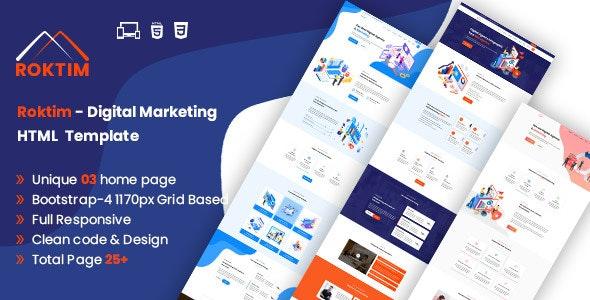 Roktim - Digital Marketing HTML Template by codexexpert