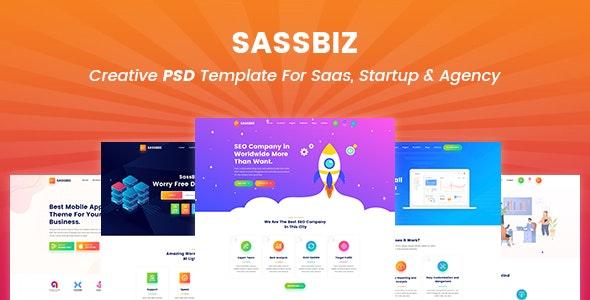 SassBiz - Creative PSD Template for Saas - Technology PSD Templates