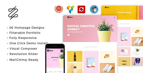 Zien - Portfolio WordPress Theme - Portfolio Creative