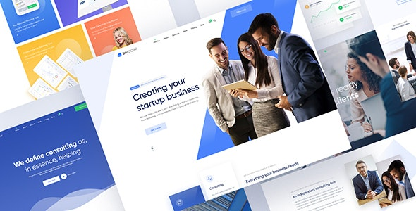 Unicorp - Startup and Finance Multipurpose PSD Template - Corporate Photoshop