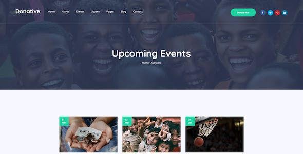 Donative - Charity Website PSD Template