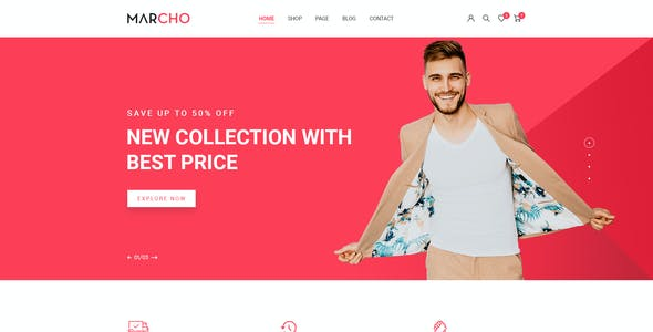 MARCHO - eCommerce PSD Template