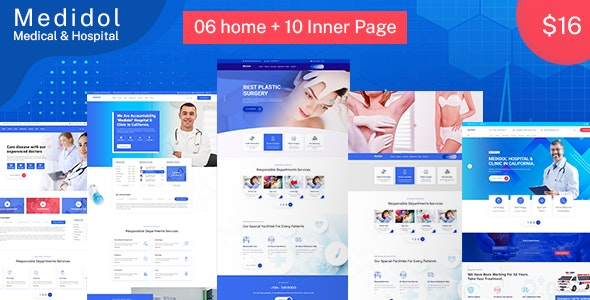 Medidol | Medical & Clinic PSD Template - Health & Beauty Retail