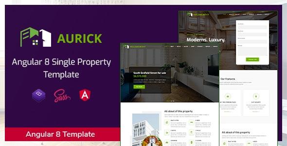 Aurick - Angular 8 Single Property Template - Business Corporate
