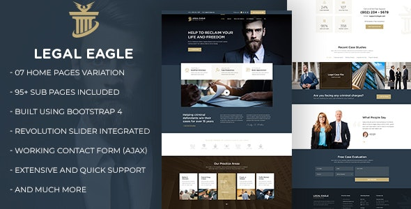 Legal Eagle – Attorney & Law Firm HTML5 Template - Business Corporate