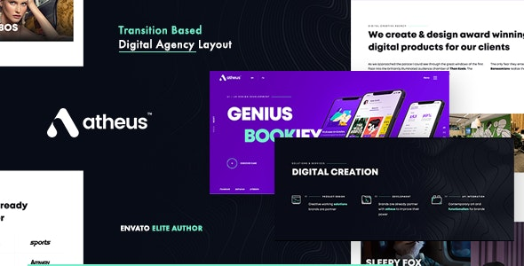 Atheus - Modern Creative Agency Theme - Creative WordPress