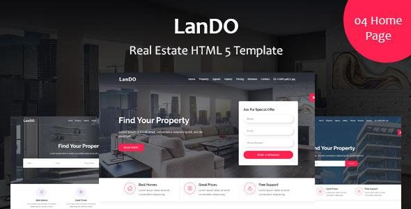 LanDo - Real Estate HTML Template - Business Corporate