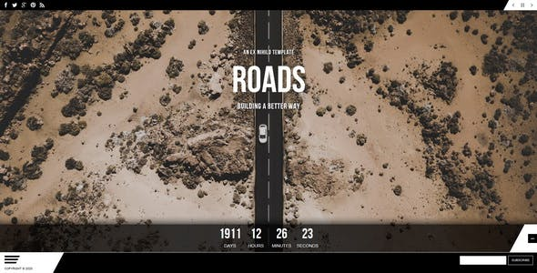 Roads || Responsive Coming Soon Page