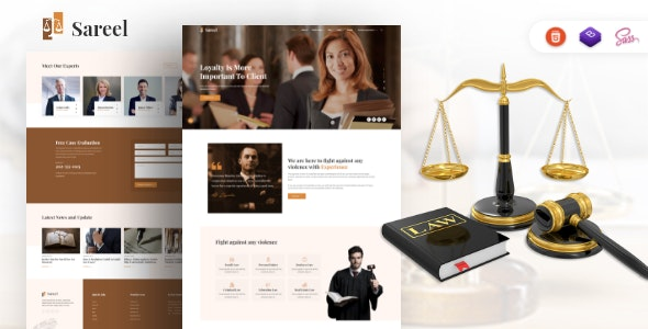 Sareel – Lawyer and Attorney HTML Template - Business Corporate