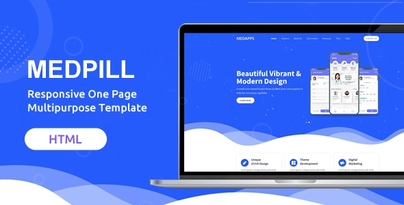 Medpill | Responsive One Page Multipurpose Template - Site Templates