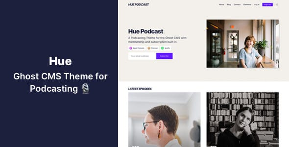 Download Hue - Ghost CMS Theme for Podcasting