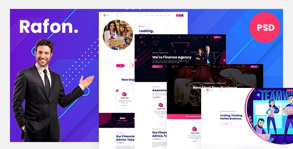 Rafon | Business Agency PSD Template - Business Corporate