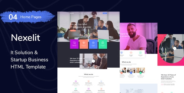 Nexelit - startup & it solutions HTML Template - Business Corporate