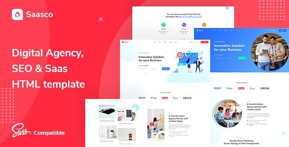 Saasco - Digital agency, SEO & Marketing HTML Template