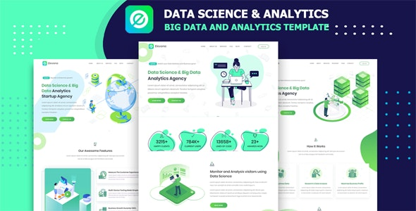 Elevona - Data Science & Big Data Analytics Template - Technology Site Templates
