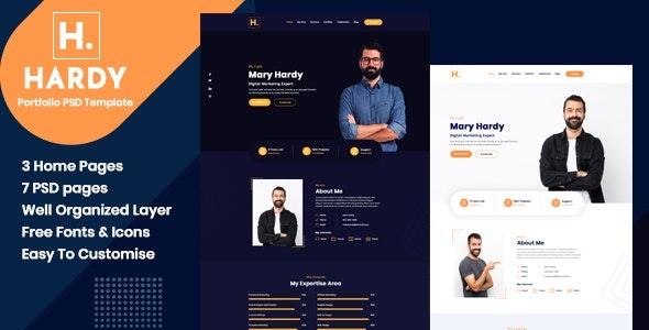 Hardy - Personal Portfolio PSD Template - Portfolio Creative
