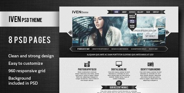 Iven PSD Theme - Creative Photoshop