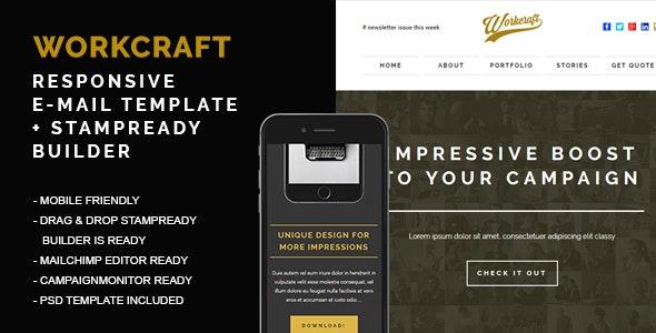 Workcraft | Newsletter Responsive E-mail Templates + Stampready Builder - Newsletters Email Templates