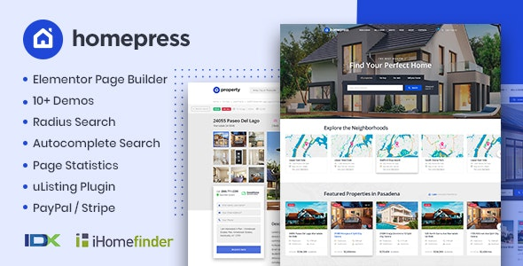 HomePress - Real Estate WordPress Theme - Real Estate WordPress