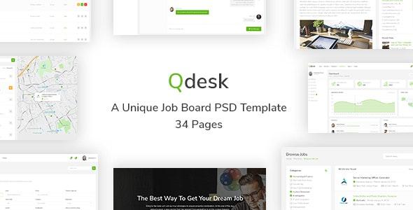 Qdesk - A Unique Job Board HTML 5 Template - Site Templates