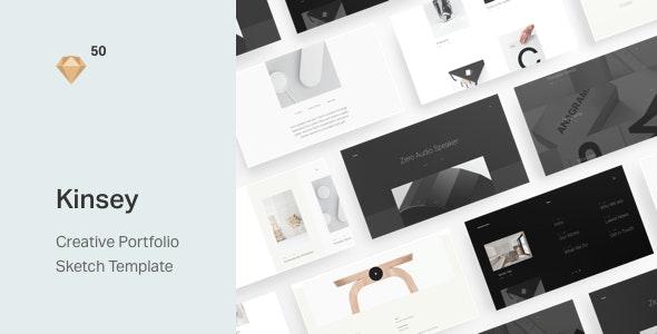 Kinsey – Creative Portfolio Sketch Template - Sketch Templates