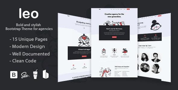 Leo - Creative Agency Bootstap 4 Theme - Portfolio Creative