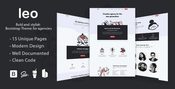 Leo - Creative Agency Bootstap 4 Theme