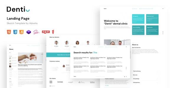 Denti - Landing page HTML Template