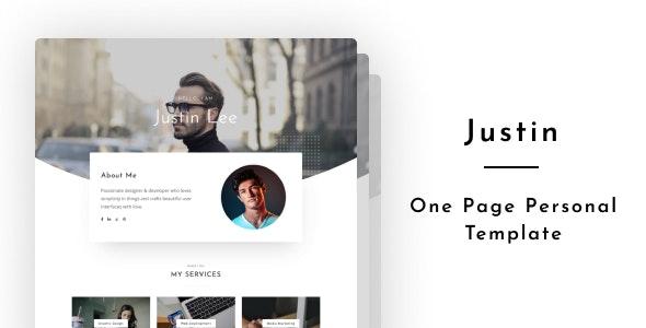 Justin - Personal Portfolio - Portfolio Creative