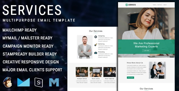 Services - Multipurpose Responsive Email Template - Newsletters Email Templates