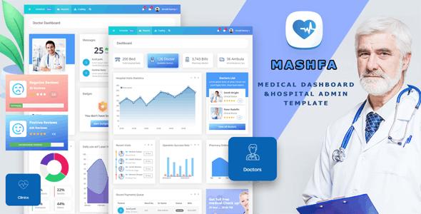 Mashfa - Medical Dashboard & Hospital Admin Template - Admin Templates Site Templates