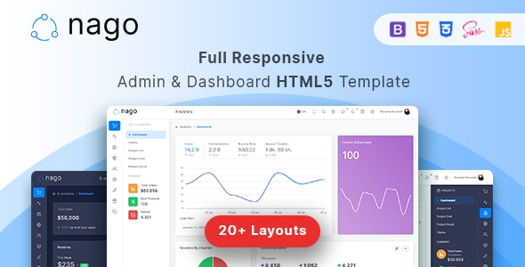 Nago - Admin &  Dashboard HTML Template - Admin Templates Site Templates