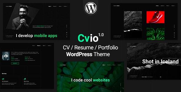 Cvio   CV/Resume Theme - Portfolio Creative