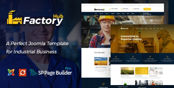 Factory HUB - Industrial Business Joomla Template - Business Corporate