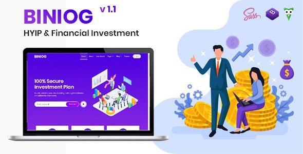 Biniog - HYIP & Financial Investment Template - Business Corporate