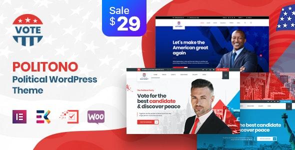 Politono - Political Election Campaign WordPress Theme - Political Nonprofit