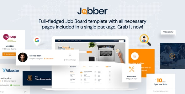 Jobber - Job Board HTML5 Template - Business Corporate