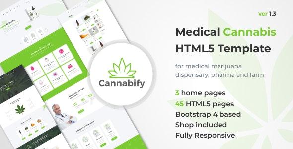 Cannabify - Medical Marijuana Dispensary HTML Bootstrap Template - Business Corporate