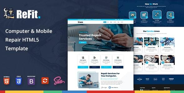 Refit - Computer & Mobile Repair HTML5 Template - Business Corporate