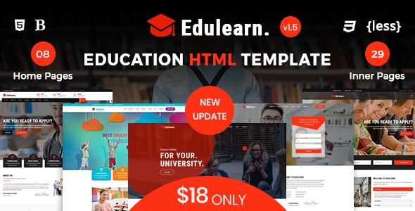 Edulearn - Education HTML Template - Business Corporate
