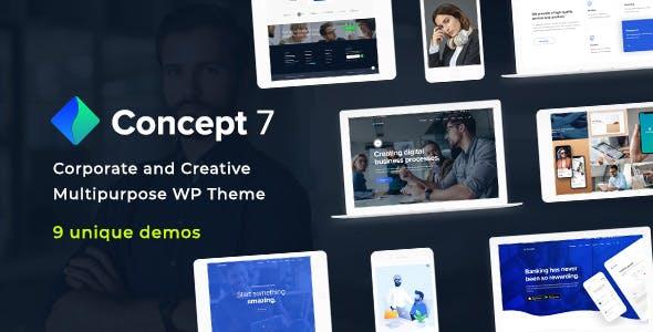 Concept Seven   Responsive Multipurpose WordPress Theme
