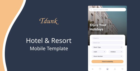 Download Tdunk - Hotel & Resort Mobile Template